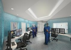 A view showing the collaborative shared control room space. Courtesy of Cannon Design.