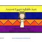 Build your students' vocabulary while practicing syllabication. Students are challenged to sort 1-4 syllable Egyptian History vocabulary. Even firs...