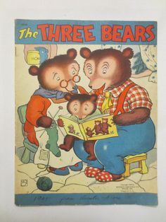 The Three Bears (1942) Whitman Publishing Company - Vintage Childrens Book - Rare Childrens Books