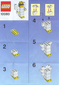 LEGO 10080 Angel instructions displayed page by page to help you build this amazing LEGO Seasonal set Lego Christmas Ornaments, Lego Christmas Village, Christmas Crafts For Kids, Lego Duplo, Lego Design, Lego Friends, Lego Sets, Instructions Lego, Lego Therapy
