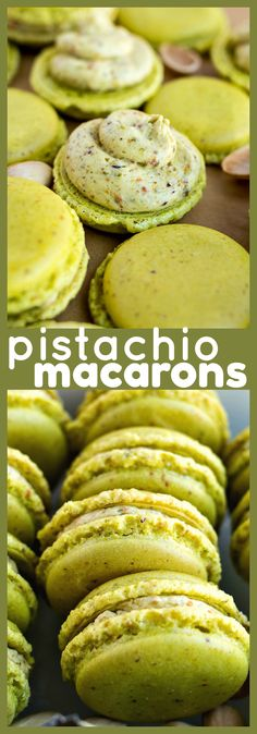 Pistachio Macarons – Nutty, fancy little French macarons made with freshly chopped pistachios and filled with an homemade pistachio buttercream recipe macaron frenchfood pistachio cookie dessert baking 113927065559756293 Macaron Pistache, Pistachio Dessert, Pistachio Macarons, Pistachio Recipes, Pistachio Cookies, Köstliche Desserts, Delicious Desserts, Plated Desserts, Gastronomia
