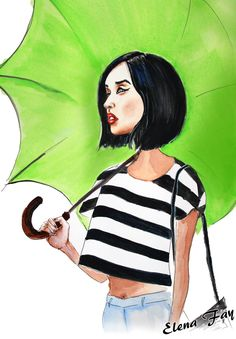 Fashion inspiration Gary Pepper - illustration by ©Elena Fay  http://dcinstyle.com/fashion-inspiration-gary-pepper/