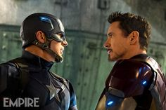 Image of Captain America and Iron Man facing off in Captain America: Civil War