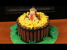 """Today my guest """"The Completionist"""" helped me make Donkey Kong cake! I really enjoy making nerdy themed goodies and decorating them. I'm not a pro, but I love baking as a hobby. Please let me know what kind of treat you would like me to make next!"""