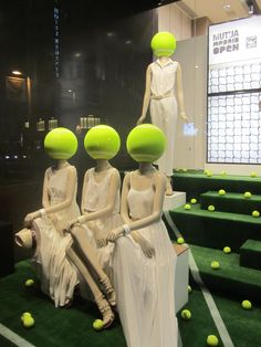 ball girls at the Madrid Tennis Open, pinned by Ton van der Veer