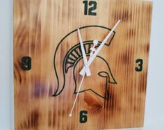 MSU Michigan State Spartan Large Office Wall by MRWoodCrafting