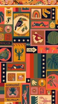 Fabric Patterns, Print Patterns, Mc Escher, Beautiful Drawings, Retro Art, Textile Prints, Fun Prints, Iphone Wallpaper, Pattern Design