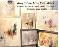 Amy Stone at CV Gallery #pioneersquare #firstthursday #firstthursdayartwalk Events This Week, Davidson Galleries, Event Website, Square Art, Art Walk, Stone Art, How To Know, Thursday, Amy