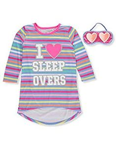 Sleep Little Girls Sleepovers Nightgown. *** Want additional info? Click on the image. (This is an affiliate link) #Nightgowns