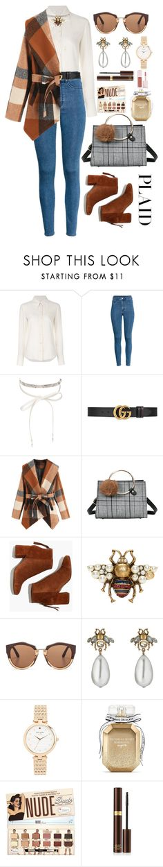 """Cosy plaid"" by asnaate ❤ liked on Polyvore featuring Chloé, H&M, nOir, Gucci, Madewell, Marni, Kate Spade, Victoria's Secret, Tom Ford and Puma"