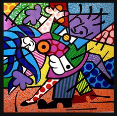 Romero Britto tango painting                         Available through National Wildlife Gallery www.nationalwildlifegallery.com | 239.275.0500