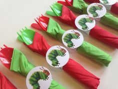Hungry Caterpillar Birthday Party Cutlery by AlishaKayDesigns