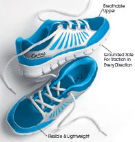 AVON - Curves® for Women Active Sneaker in Blue $29.99 while supplies last. Flexible and lightweight. Plush footbed. Skid-resistant and gridded sole for traction in every direction. Perforated upper for breathability. Man-made materials.   Curves is a registered trademark of Curves International, Inc. © 2013 Curves International, Inc.