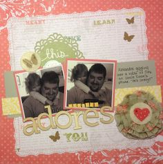 Layout by Suzanne Spokus. Ruffle Blossom and Sweet Spot by Precocious Paper.