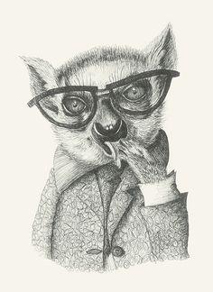 https://flic.kr/p/DxCRAF | Mr Lemur #animals#lemur#glasses#elegant#dandy#playboy by Leo Bellei