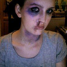 Halloween makeup - bruises