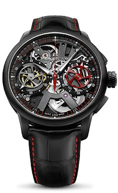 An avant-garde design housed within a diameter of 45 mm. A skeleton that shapes time. A Manufacture –made mechanism, the ML 106-7 caliber. This new instrument for the measurement of short time intervals deserves the utmost respect. Its precise mechanics, for which a patent has been filed, and openwork design, which displays and thus authenticates the movement, are the cornerstones of an undeniably contemporary collection. Offering a new take on the skeleton watch, which had already been ...