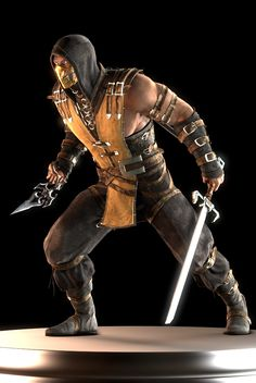 Mortal Kombat X Scorpion Escorpion Mortal Kombat, Mortal Kombat Cosplay, Video Game Art, Video Games, Drow Male, Warrior Spirit, Video Game Characters, Fighting Games, Punisher