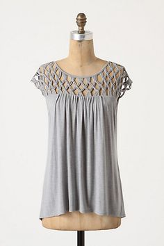 Sailor knotted top from Anthropologie in grey, $68. This would be a great casual summer shirt.