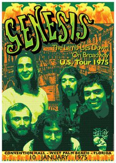 GENESIS 10 January 1975 West Palm Beach artistic by tarlotoys, €10.00
