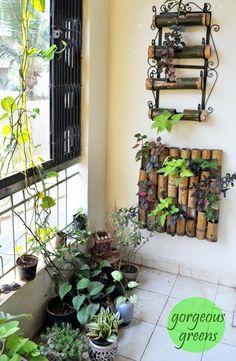 Pretty indoor garden decor ideas – The World Apartment Balcony Garden, Small Balcony Garden, Small Balcony Decor, Garden Beds, Home And Garden, Balcony Decoration, Balcony Gardening, Kitchen Gardening, Gardening Gloves