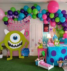 Monsters Inc Boo, Monsters Inc Baby Shower, Monsters Inc Cookies, Monster Inc Party, Monster Inc Cakes, Monster University Birthday, Monster 1st Birthdays, Monster Birthday Parties, 2nd Birthday Party Themes