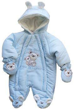 Mono enterizo acolchado con manoplas e interior en tejido polar.