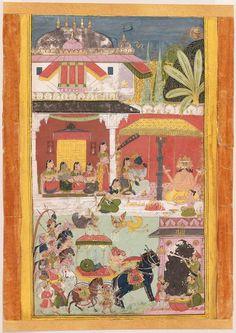 Khambavati Ragini. Opaque watercolor on paper, Mewar, Rajasthan, Northern India, ca. 1700