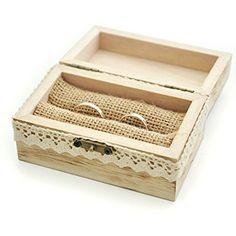 Amazon.com: Rustic Wedding Ring Bearer Box, Wood Wedding Ring Box, Wedding Box for Rings, We Do Ring Box: Jewelry