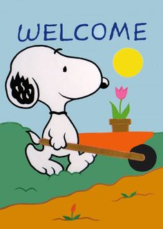 Snoopy Gardening