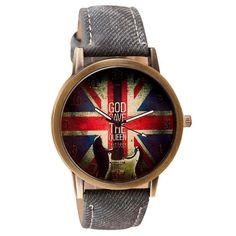 Watches Men Relogio Masculino Women's Denim Leather