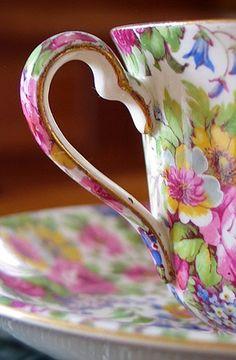 floral tea, vintage teacups, tea time, floral patterns, color, bone china, tea cup, floral designs, flowers garden