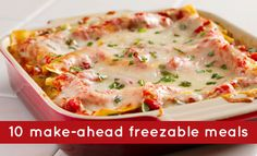 Meal Plan | Meal Planning | 10 Easy Make Ahead Freezable Meals