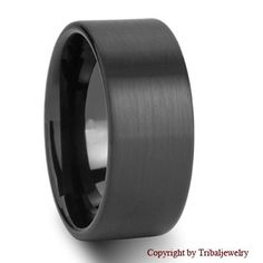 Mens wedding rings black tungsten