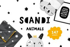 Scandinavian Animals - Nursery print by tatiletters on @creativemarket