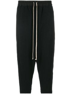 RICK OWENS DRKSHDW drop-crotch cropped trousers. #rickowensdrkshdw #cloth #schritt
