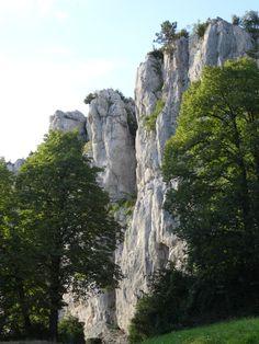 Falaises au dessus de Poligny (Jura français).