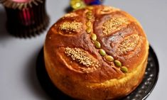 Vasilopita Cake, Bread Recipes, Cake Recipes, Greek Bread, New Year's Cake, St Basil's, Family Fresh Meals, Greek Dishes, Cha Cha