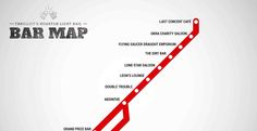 light rail bar crawl map