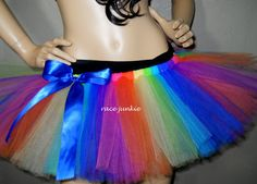 Race Glow by Race Junkie/ Running Tutu/ Race Costumes/Rainbow Tutu/ UV Activated/Glow Run/ Run/ Running Tutu, Running Pants, Neon Run, Electric Run, Charity Run, Disney Princess Half Marathon, Glow Stars, Blacklight Party, Rainbow Tutu