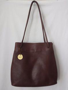 Nine West Bag Purse Leather Chocolate Brown Shoulder Strap  #NineWest #ShoulderBag