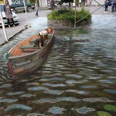 Amazing 3D art by Julian Beever. Awesome!
