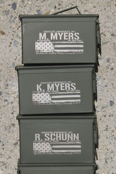 This listing is for (1) Ammo box.  ---> READ the Listing Please:  About the Ammo Cans: I do not make them, I only personalize them. *They >WILL<