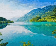 Cross Stitch Pictures, Cross Stitching, Abandoned, Mountains, Nature, Painting, Travel, Outdoor, Digital