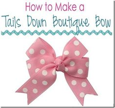 How to Make a Tails Down Boutique Hair Bow
