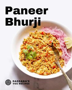Looking for an egg free breakfast? Try this paneer bhurji recipe! It's a recipe from Northern India that turns Indian cottage cheese into a scramble and is made even better with all the spices added to it. Try it with some Indian bread or roti for a breakfast that will last until lunch! . . #paneer #paneerrecipes #paneerlove #cottagecheese #eggless