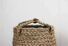 One of my friends bought me a big braided jute basket for Christmas that I just love – I take it everywhere! I was staring at it the other day and thought… Okay, I can make one of those…