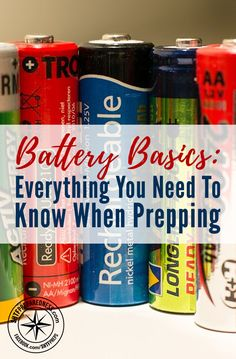 Battery Basics, Everything You Need To Know When Prepping - Batteries are a valued commodity we take for granted. If SHTF and we have no batteries stored we risk having no flashlights, no batteries to play our MP3s, you get what I am trying to say.