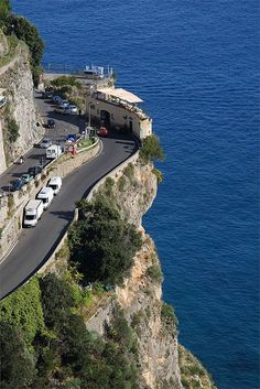 Coffee Shop along The Amalfi Coast Road, Italy