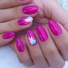 How to succeed in your manicure? - My Nails Pink Nail Art, Flower Nail Art, Pink Nails, Glitter Nails, My Nails, Nail Art Rose, Cute Nails, Pretty Nails, Uñas Diy